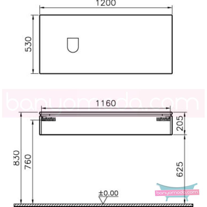 Vitra System Fit Geniş Lavabo Dolabı (Sığ), (Sol), 120 cm, Parlak Beyaz, Shift Kulp - 53497 asma termoform kaplama kulplu yavaş kapanır çekmeceli vitra'nın tasarım ve teknoloji gücü banyo mobilyalarında sonsuz seçenek yaratıyor en uygun fiyatlarla Banyomoda'dan online satın alabilirsiniz.