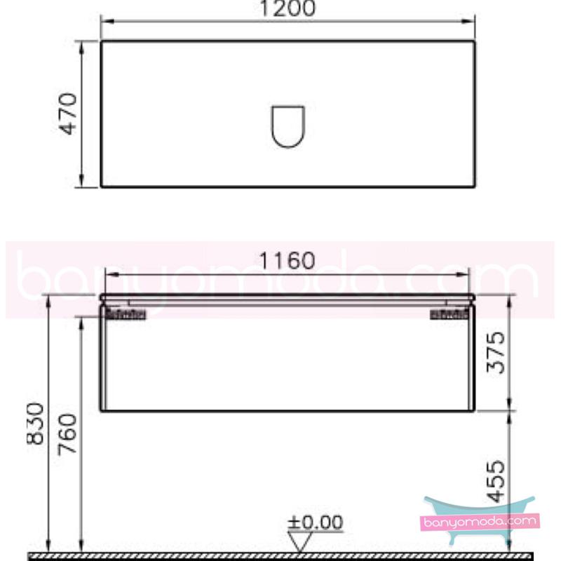 Vitra System Fit Lavabo Dolabı (Derin), 120 cm (Orta), Parlak Beyaz, Shift Kulp - 53689 asma termoform kaplama kulplu yavaş kapanır çekmeceli vitra'nın tasarım ve teknoloji gücü banyo mobilyalarında sonsuz seçenek yaratıyor en uygun fiyatlarla Banyomoda'dan online satın alabilirsiniz.