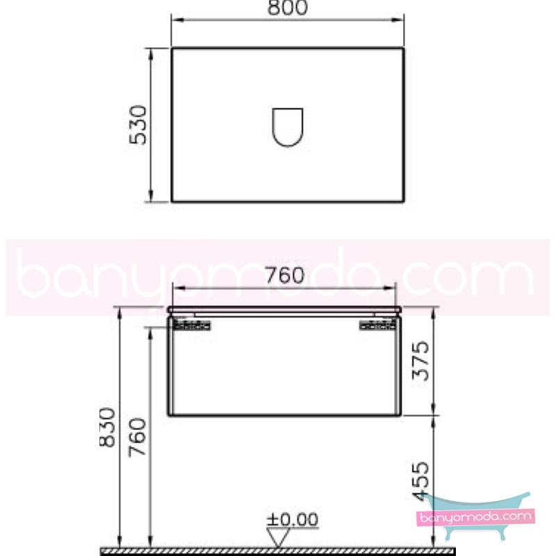 Vitra System Fit Geniş Lavabo Dolabı (Derin), 80 cm, Parlak Beyaz, Shift Kulp - 53769 asma termoform kaplama kulplu yavaş kapanır çekmeceli vitra'nın tasarım ve teknoloji gücü banyo mobilyalarında sonsuz seçenek yaratıyor en uygun fiyatlarla Banyomoda'dan online satın alabilirsiniz.