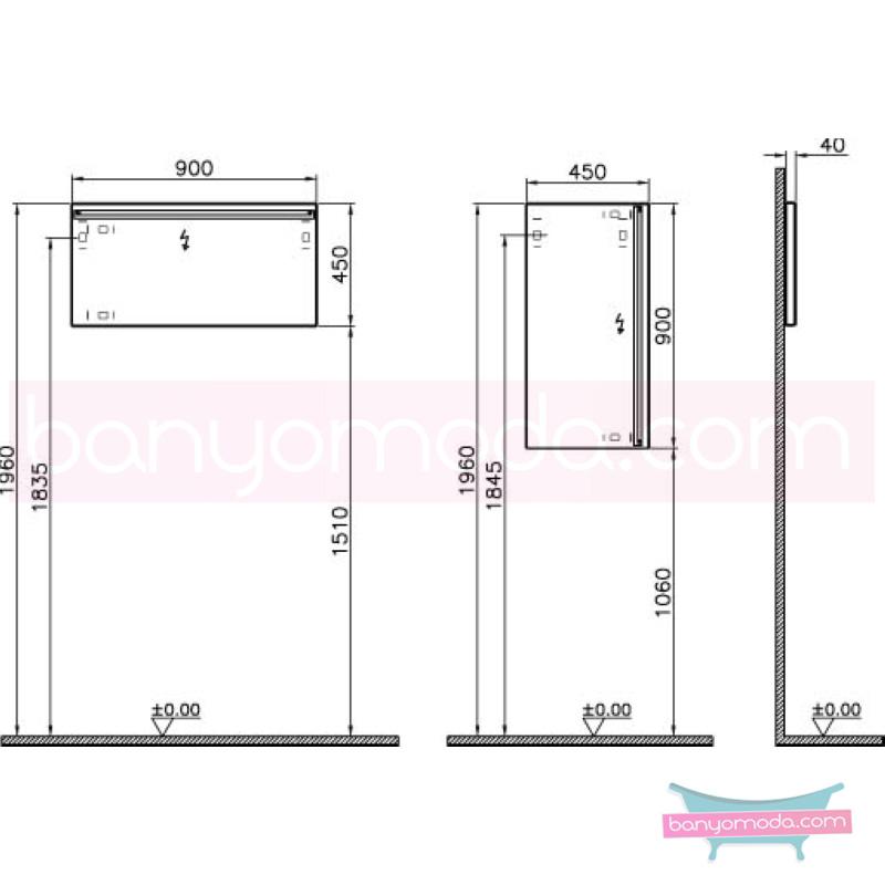 Vitra T4 Aydınlatmalı Ayna - 54625 sade ve ince görüntsünüyle banyonuza değer katan Noa tasarımlı mobilya en uygun fiyatlarla Banyomoda'dan online satın alabilirsiniz.