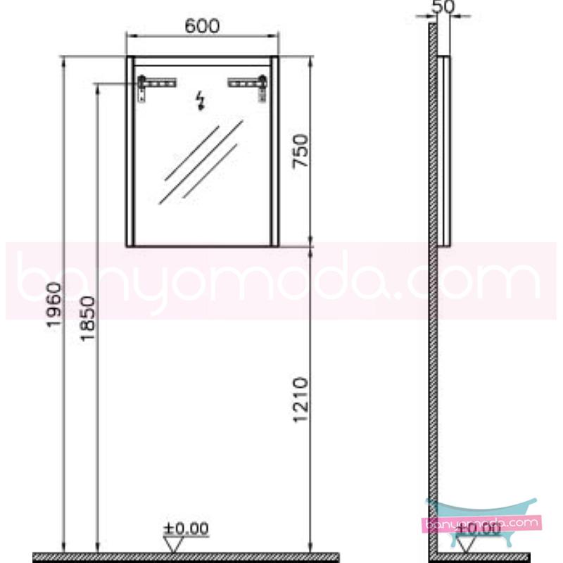 Vitra T4 Aydınlatmalı Ayna, 60 cm, Parlak Beyaz - 54632 termoform kaplama sade ve ince görüntsünüyle banyonuza değer katan Noa tasarımlı mobilya en uygun fiyatlarla Banyomoda'dan online satın alabilirsiniz.