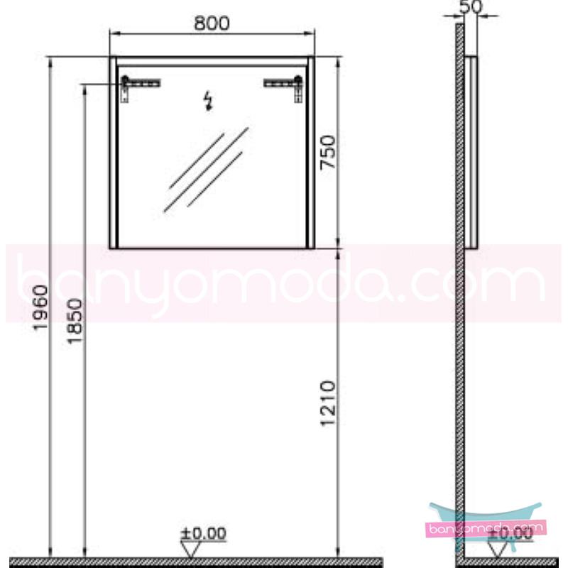 Vitra T4 Aydınlatmalı Ayna, 80 cm, Parlak Beyaz - 54644 termoform kaplama sade ve ince görüntsünüyle banyonuza değer katan Noa tasarımlı mobilya en uygun fiyatlarla Banyomoda'dan online satın alabilirsiniz.