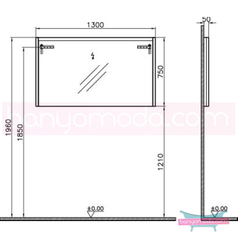 Vitra T4 Aydınlatmalı Ayna, 130 cm, Parlak Beyaz - 54656 asma termoform kaplama sade ve ince görüntsünüyle banyonuza değer katan Noa tasarımlı mobilya en uygun fiyatlarla Banyomoda'dan online satın alabilirsiniz.
