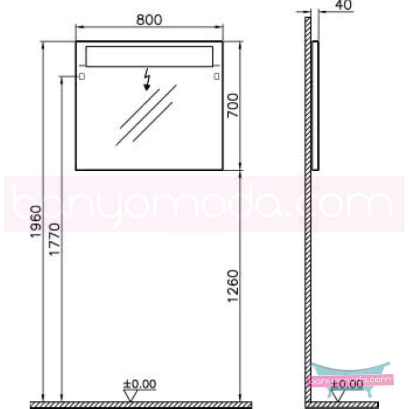 Vitra S50+ Aydınlatmalı Ayna, 80 cm - 54751 asma en uygun fiyatlarla Banyomoda'dan online satın alabilirsiniz.