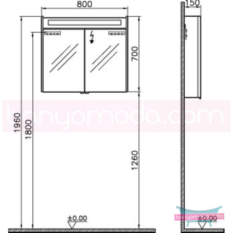 Vitra S50+ Aydınlatmalı Dolaplı Ayna, Parlak Beyaz - 54758 asma termoform kaplama kulplu yavaş kapanır en uygun fiyatlarla Banyomoda'dan online satın alabilirsiniz.