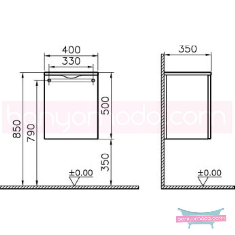 Vitra Aqua Kısa Dolap (Sağ), Hasiente Beyaz - 54226 asma termoform kaplama yavaş kapanır kulpsuz dalgalı formu ve geniş saklama alanı sunan banyo mobilyası en uygun fiyatlarla Banyomoda'dan online satın alabilirsiniz.