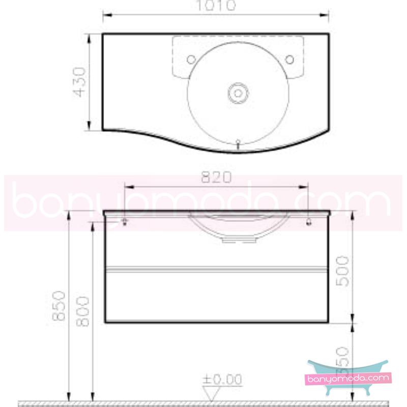 Vitra Aqua Lavabo Dolabı (Sol), 100 cm, Koyu Meşe - 54521 asma termoform kaplama yavaş kapanır kulpsuz çekmeceli dalgalı formu ve geniş saklama alanı sunan banyo mobilyası en uygun fiyatlarla Banyomoda'dan online satın alabilirsiniz.