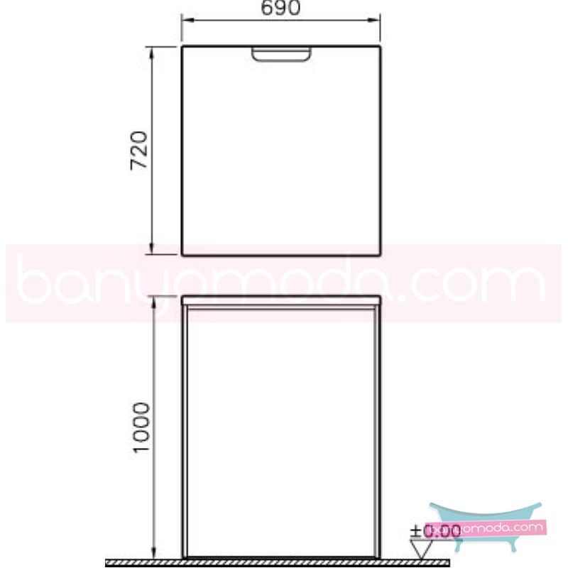 Vitra Çamaşır Makinesi Paneli U-Oyuklu, Zebrano - 54851 yerden termoform kaplama banyo mobilyasıdır en uygun fiyatlarla Banyomoda'dan online satın alabilirsiniz.