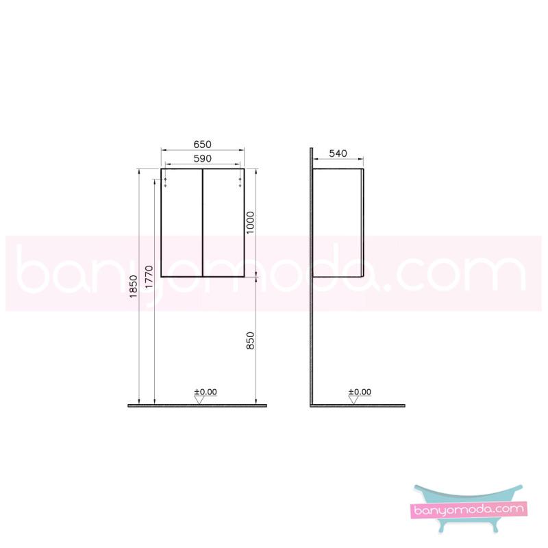 Vitra Termosifon Dolabı, Mat Gri - 54895 asma lake kaplama bas aç kapa banyo mobilyasıdır en uygun fiyatlarla Banyomoda'dan online satın alabilirsiniz.