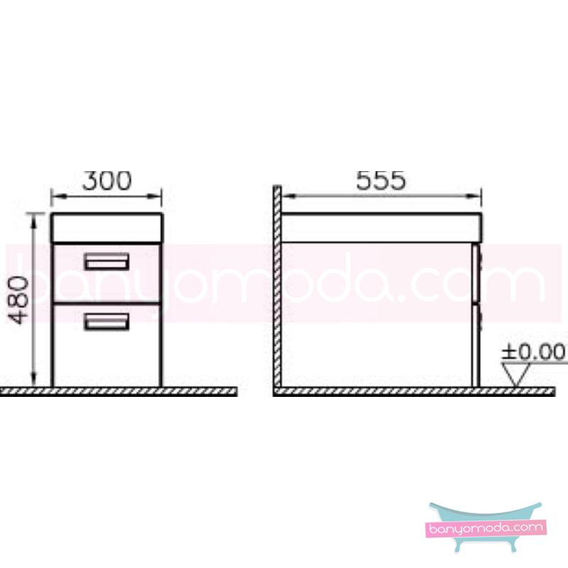 Vitra Form 500+ Çekmece Ünitesi, 30 cm, Ceviz - 54088 asma termoform kaplama kulplu yavaş kapanır çekmeceli farklı ölçülerdeki depolama üniteleri sayesinde, özellikle aile banyolarına yönelik ideal bir çözüm en uygun fiyatlarla Banyomoda'dan online satın alabilirsiniz.