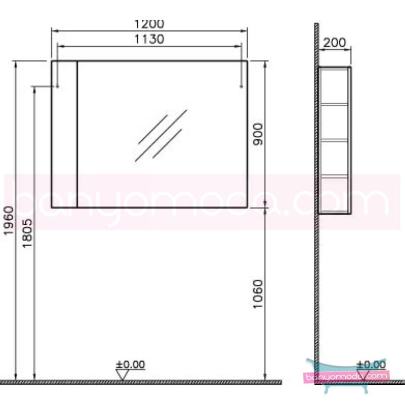Vitra Form 500+ Raflı Ayna, 120 cm, Beyaz - 52115 asma termoform kaplama farklı ölçülerdeki depolama üniteleri sayesinde, özellikle aile banyolarına yönelik ideal bir çözüm en uygun fiyatlarla Banyomoda'dan online satın alabilirsiniz.
