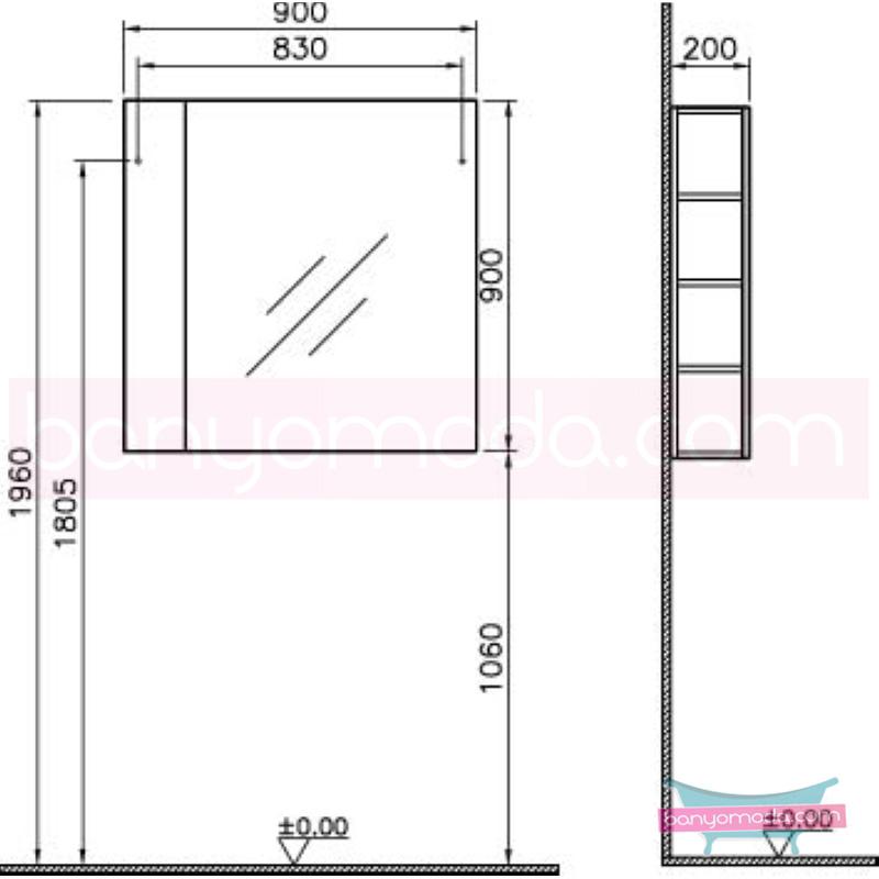 Vitra Form 500+ Raflı Ayna, 90 cm, Meşe - 52076 asma termoform kaplama farklı ölçülerdeki depolama üniteleri sayesinde, özellikle aile banyolarına yönelik ideal bir çözüm en uygun fiyatlarla Banyomoda'dan online satın alabilirsiniz.
