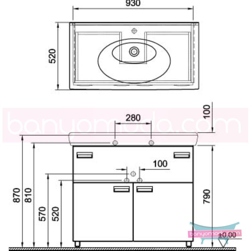 Vitra Form 500+ Lavabo Dolabı, 100 cm, Meşe (Lavabo Dahil) - 52170 yerden termoform kaplama kulplu yavaş kapanır kulplu yavaş kapanır çekmeceli farklı ölçülerdeki depolama üniteleri sayesinde, özellikle aile banyolarına yönelik ideal bir çözüm en uygun fiyatlarla Banyomoda'dan online satın alabilirsiniz.