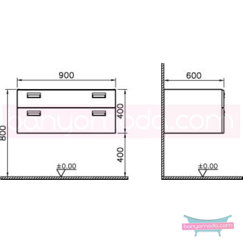 Vitra Form 500+ Asma Lavabo Dolabı, 90 cm, Ceviz - 54075 asma termoform kaplama kulplu yavaş kapanır çekmeceli farklı ölçülerdeki depolama üniteleri sayesinde, özellikle aile banyolarına yönelik ideal bir çözüm en uygun fiyatlarla Banyomoda'dan online satın alabilirsiniz.