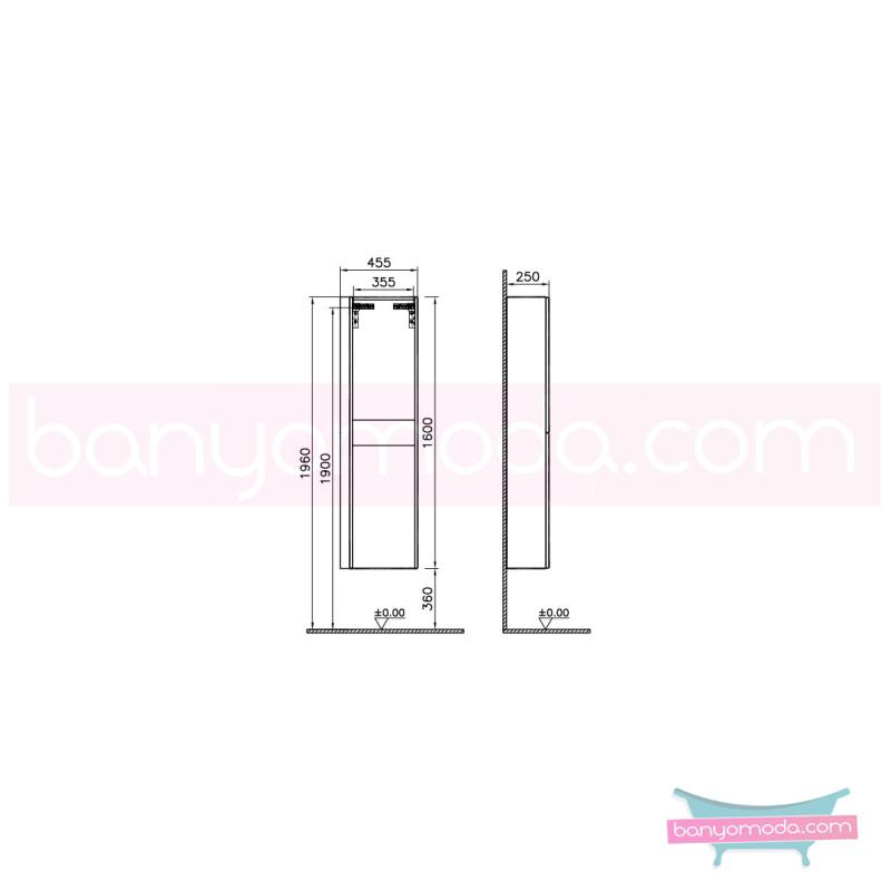 Vitra System Fit Sığ Boy Dolap (Sol), 40 cm, Gri Meşe, Yuvarlak Hatlı Kulp - 54048 asma termoform kaplama kulplu yavaş kapanır vitra'nın tasarım ve teknoloji gücü banyo mobilyalarında sonsuz seçenek yaratıyor en uygun fiyatlarla Banyomoda'dan online satın alabilirsiniz.