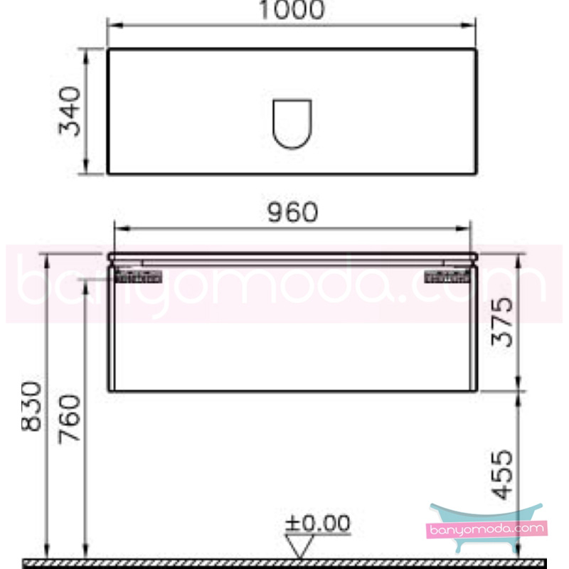 Vitra System Fit Dar Lavabo Dolabı (Derin), 100 cm, Gri Meşe, Bar Kulp - 53575 asma termoform kaplama kulplu yavaş kapanır çekmeceli vitra'nın tasarım ve teknoloji gücü banyo mobilyalarında sonsuz seçenek yaratıyor en uygun fiyatlarla Banyomoda'dan online satın alabilirsiniz.