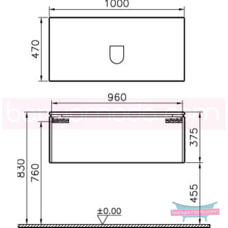 Vitra System Fit Lavabo Dolabı (Derin), 100 cm, Gri Meşe, Bar Kulp - 53687 asma termoform kaplama kulplu yavaş kapanır çekmeceli vitra'nın tasarım ve teknoloji gücü banyo mobilyalarında sonsuz seçenek yaratıyor en uygun fiyatlarla Banyomoda'dan online satın alabilirsiniz.