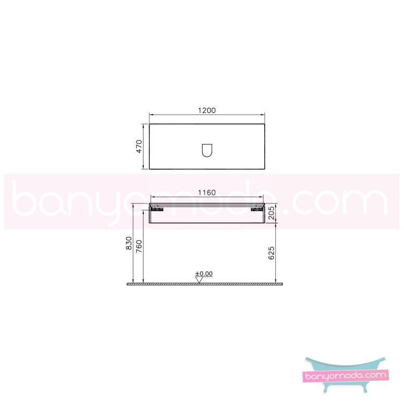 Vitra System Fit Lavabo Dolabı, (Sığ), 120 cm, Parlak Beyaz, Bel Kulp - 53374 asma termoform kaplama kulplu yavaş kapanır çekmeceli vitra'nın tasarım ve teknoloji gücü banyo mobilyalarında sonsuz seçenek yaratıyor en uygun fiyatlarla Banyomoda'dan online satın alabilirsiniz.