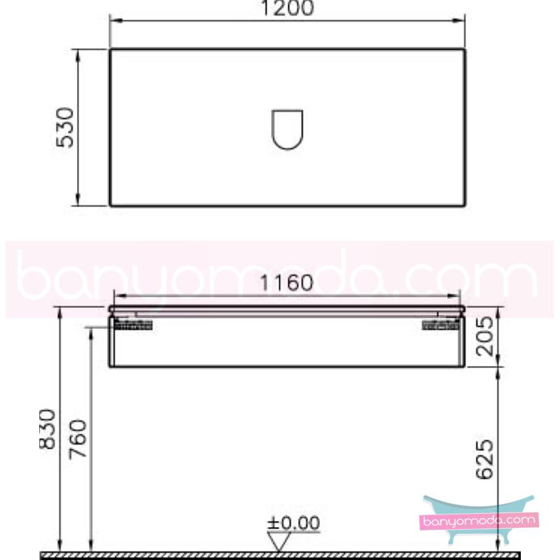 Vitra System Fit Geniş Lavabo Dolabı (Sığ), 120 cm, Parlak Beyaz, Bel Kulp - 54214 asma termoform kaplama kulplu yavaş kapanır çekmeceli vitra'nın tasarım ve teknoloji gücü banyo mobilyalarında sonsuz seçenek yaratıyor en uygun fiyatlarla Banyomoda'dan online satın alabilirsiniz.