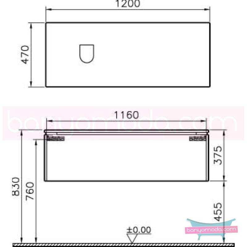 Vitra System Fit Lavabo Dolabı (Derin), (Sağ), 120 cm, Gri Meşe, Bel Kulp - 53711 asma termoform kaplama kulplu yavaş kapanır kulplu yavaş kapanır çekmeceli vitra'nın tasarım ve teknoloji gücü banyo mobilyalarında sonsuz seçenek yaratıyor en uygun fiyatlarla Banyomoda'dan online satın alabilirsiniz.