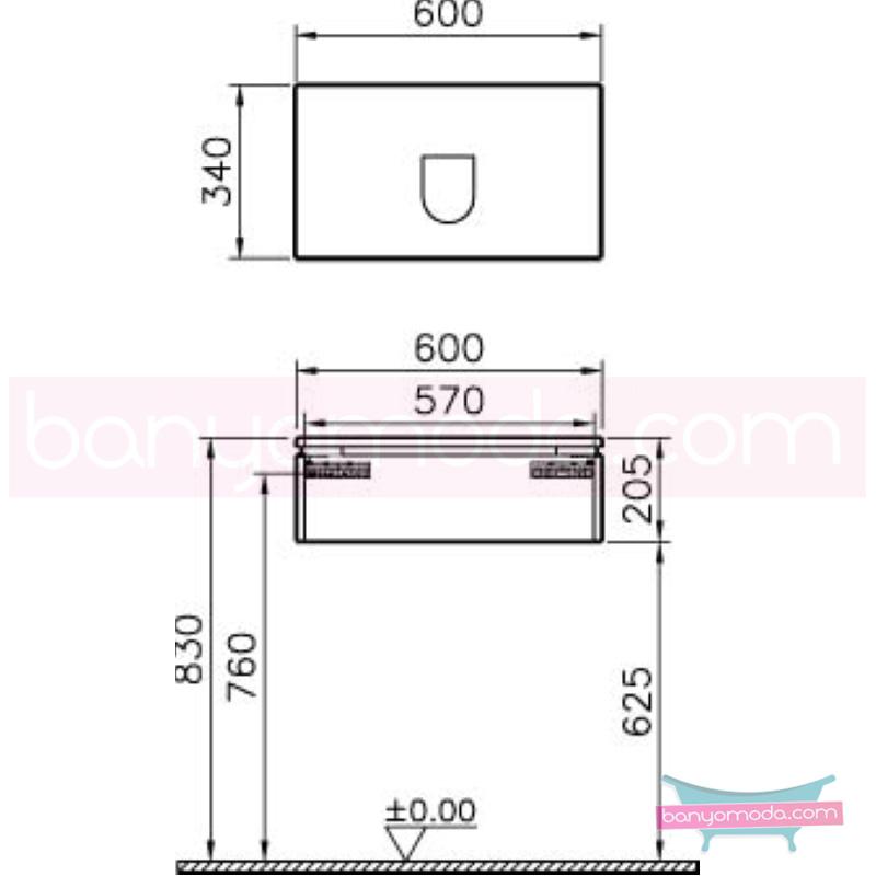 Vitra System Fit Dar Lavabo Dolabı (Sığ), 60 cm, Parlak Beyaz, Bar Kulp - 53222 asma termoform kaplama kulplu yavaş kapanır çekmeceli vitra'nın tasarım ve teknoloji gücü banyo mobilyalarında sonsuz seçenek yaratıyor en uygun fiyatlarla Banyomoda'dan online satın alabilirsiniz.