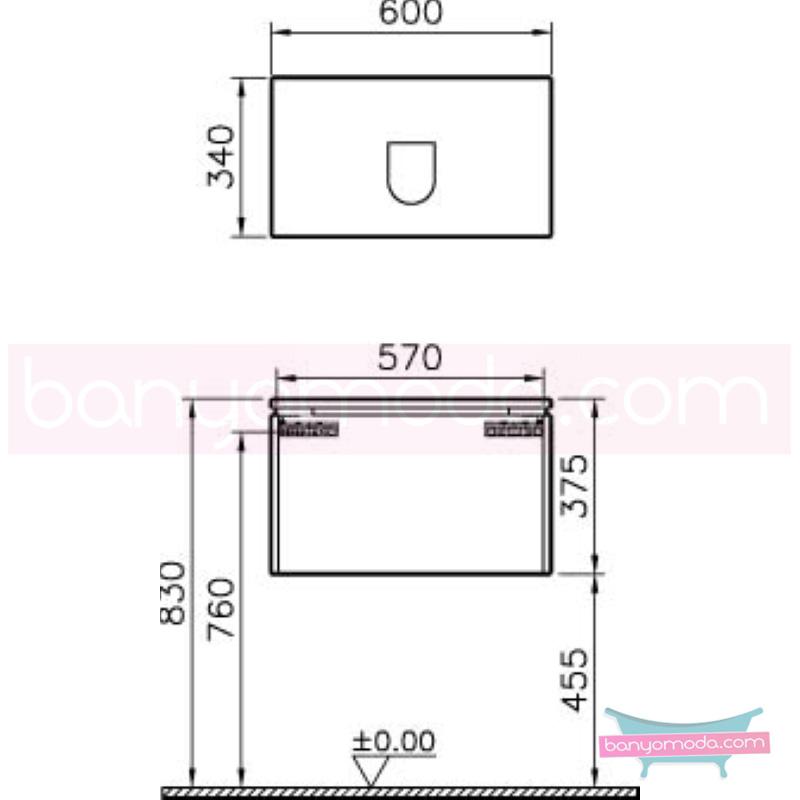 Vitra System Fit Dar Lavabo Dolabı (Derin), 60 cm, Gri Meşe, Bel Kulp - 53535 asma termoform kaplama kulplu yavaş kapanır çekmeceli vitra'nın tasarım ve teknoloji gücü banyo mobilyalarında sonsuz seçenek yaratıyor en uygun fiyatlarla Banyomoda'dan online satın alabilirsiniz.