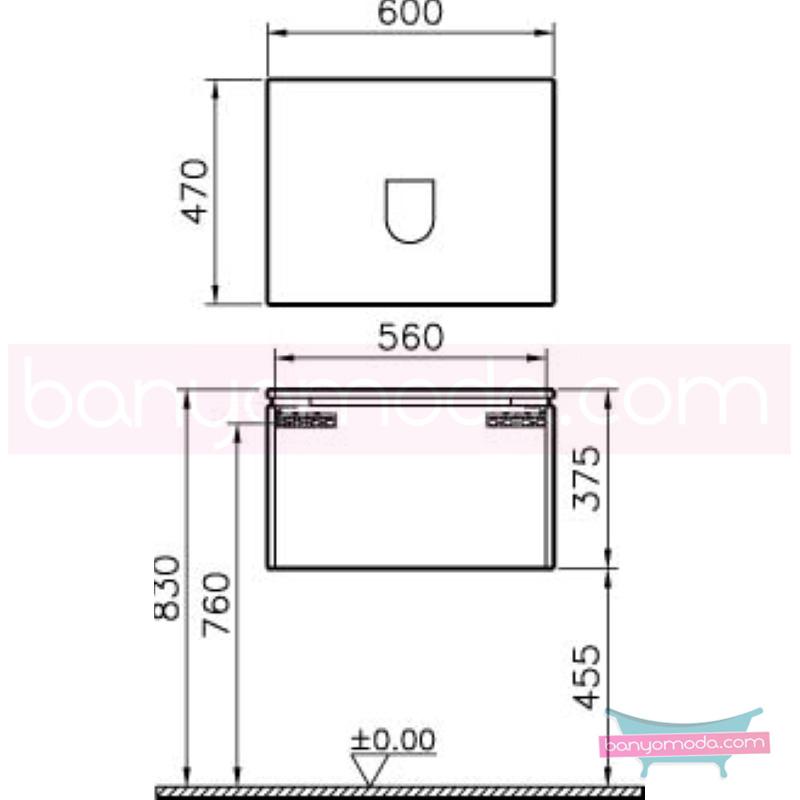 Vitra System Fit Lavabo Dolabı (Derin), 60 cm, Parlak Beyaz, Yuvarlak Hatlı Kulp - 53649 asma termoform kaplama kulplu yavaş kapanır çekmeceli vitra'nın tasarım ve teknoloji gücü banyo mobilyalarında sonsuz seçenek yaratıyor en uygun fiyatlarla Banyomoda'dan online satın alabilirsiniz.