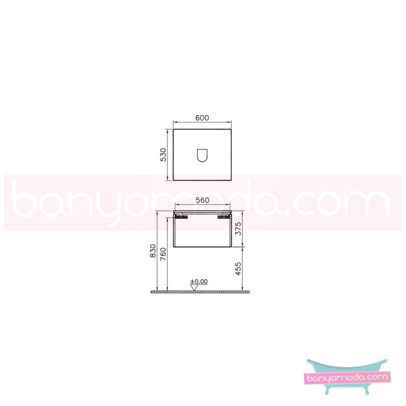 Vitra System Fit Geniş Lavabo Dolabı (Derin), 60 cm, Parlak Beyaz, Bar Kulp - 53765 asma termoform kaplama kulplu yavaş kapanır çekmeceli vitra'nın tasarım ve teknoloji gücü banyo mobilyalarında sonsuz seçenek yaratıyor en uygun fiyatlarla Banyomoda'dan online satın alabilirsiniz.