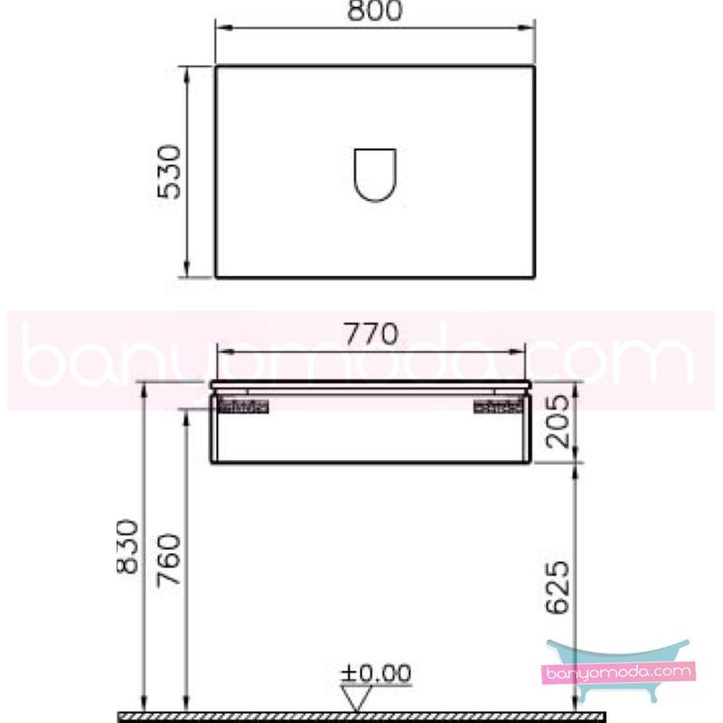 Vitra System Fit Geniş Lavabo Dolabı (Sığ), 80 cm, Parlak Beyaz, Yuvarlak Hatlı Kulp - 53457 asma termoform kaplama kulplu yavaş kapanır çekmeceli vitra'nın tasarım ve teknoloji gücü banyo mobilyalarında sonsuz seçenek yaratıyor en uygun fiyatlarla Banyomoda'dan online satın alabilirsiniz.