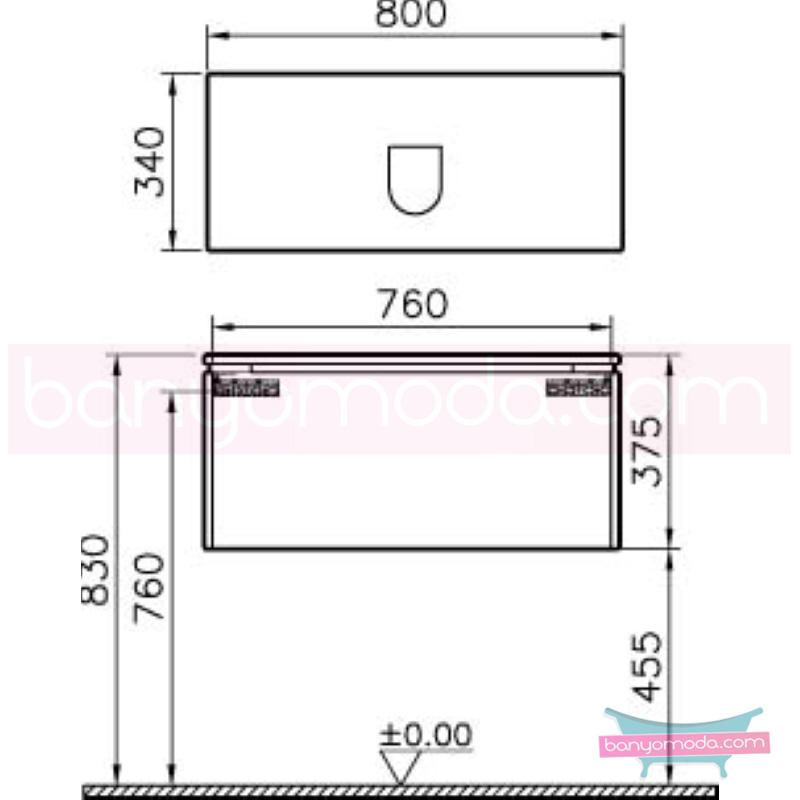 Vitra System Fit Dar Lavabo Dolabı (Derin), 80 cm, Gri Meşe, Shift Kulp - 53547 asma termoform kaplama kulplu yavaş kapanır çekmeceli vitra'nın tasarım ve teknoloji gücü banyo mobilyalarında sonsuz seçenek yaratıyor en uygun fiyatlarla Banyomoda'dan online satın alabilirsiniz.