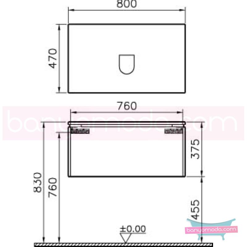 Vitra System Fit Lavabo Dolabı (Derin), 80 cm, Gri Meşe, Bel Kulp - 53663 asma termoform kaplama kulplu yavaş kapanır çekmeceli vitra'nın tasarım ve teknoloji gücü banyo mobilyalarında sonsuz seçenek yaratıyor en uygun fiyatlarla Banyomoda'dan online satın alabilirsiniz.