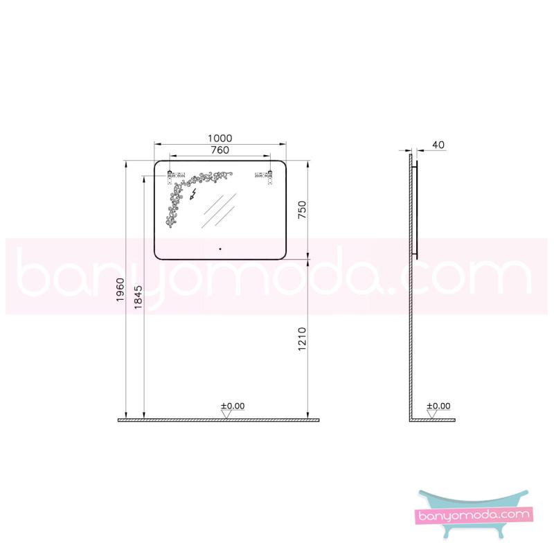 Vitra Gala Classic Desenli Aydınlatmalı Ayna, 100 cm - 55164 asma klasik mobilya anlayışını banyosuna yansıtmak isteyenler için en uygun fiyatlarla Banyomoda'dan online satın alabilirsiniz.