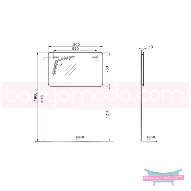 Vitra Gala Classic Desenli Aydınlatmalı Ayna, 120 cm - 55165 asma klasik mobilya anlayışını banyosuna yansıtmak isteyenler için en uygun fiyatlarla Banyomoda'dan online satın alabilirsiniz.