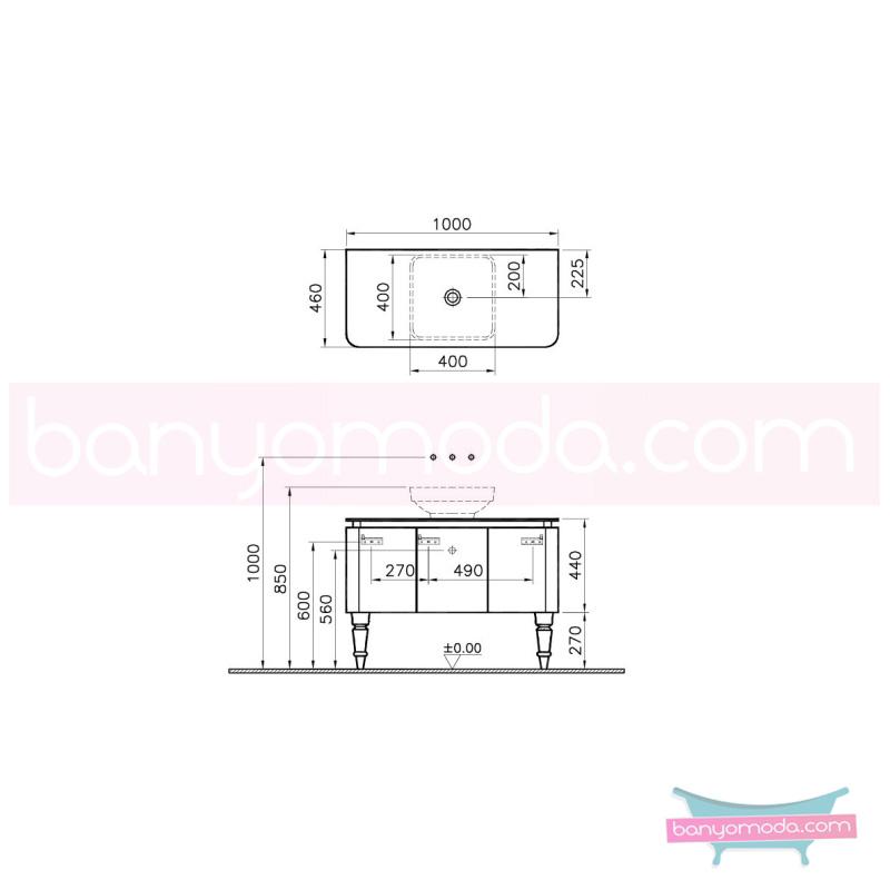 Vitra Gala Classic Lavabo Dolabı, 100 cm Parlak Bej-Krom - 55133 yerden lake kaplama yavaş kapanır tam açılır yavaş kapanır kulpsuz çekmeceli klasik mobilya anlayışını banyosuna yansıtmak isteyenler için en uygun fiyatlarla Banyomoda'dan online satın alabilirsiniz.