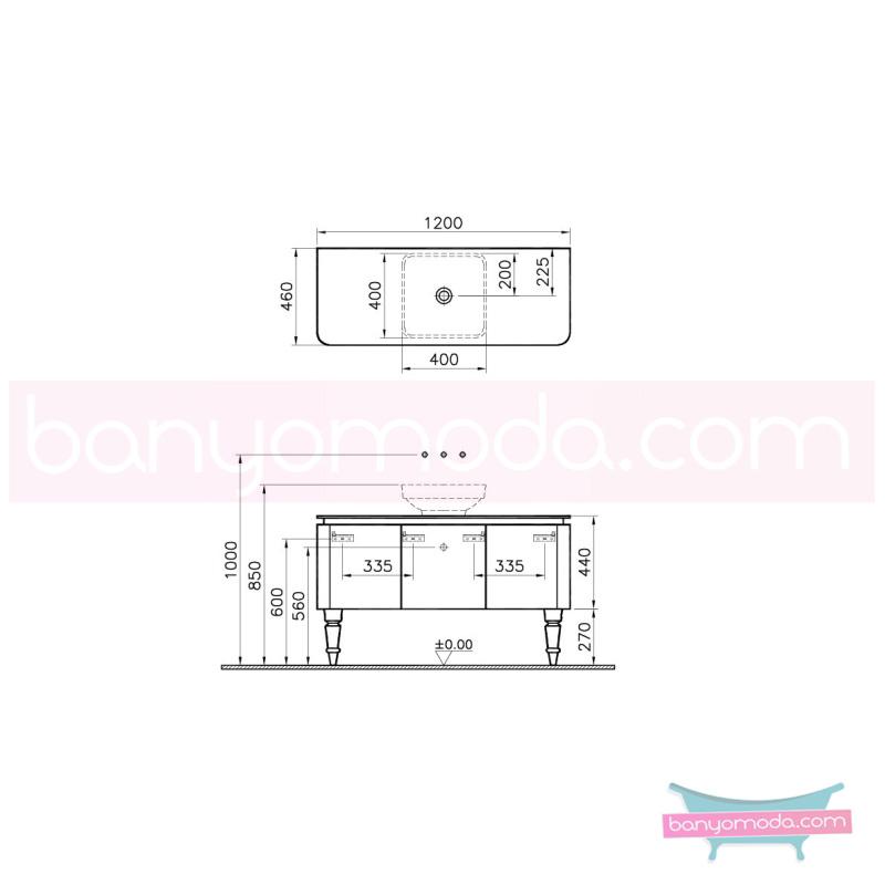Vitra Gala Classic Lavabo Dolabı, 120 cm Parlak Beyaz-Krom - 55136 yerden lake kaplama tam açılır yavaş kapanır kulpsuz çekmeceli klasik mobilya anlayışını banyosuna yansıtmak isteyenler için en uygun fiyatlarla Banyomoda'dan online satın alabilirsiniz.