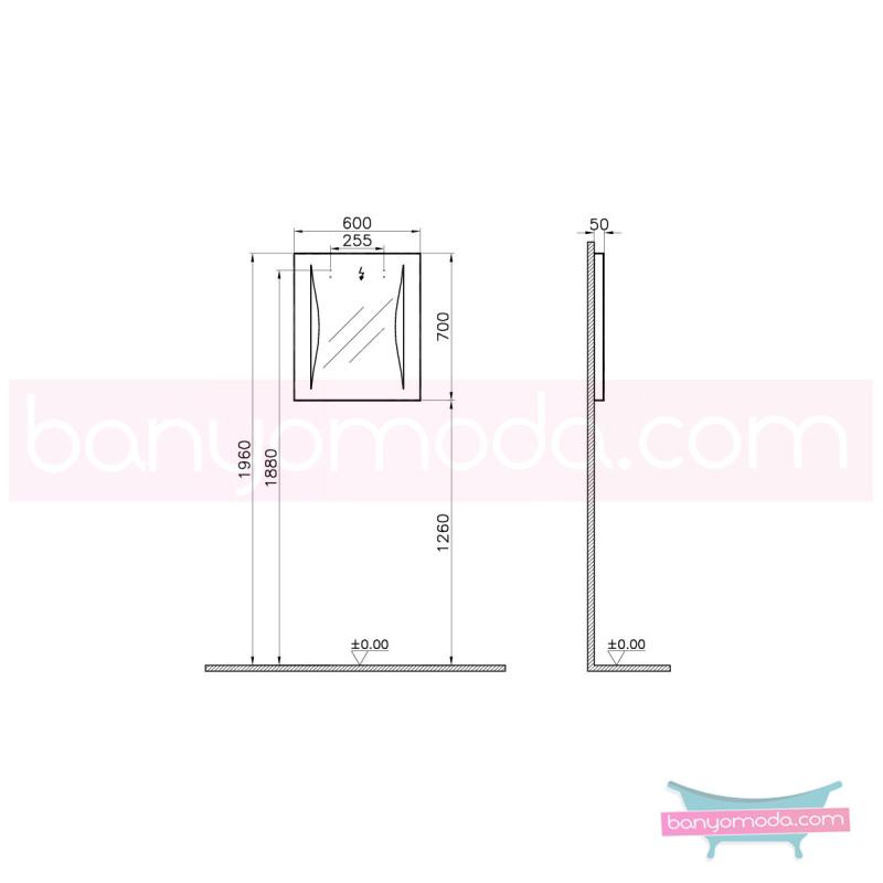 Vitra Mira Aydınlatmalı Ayna, 60 cm - 55418 asma sudan etkilenme sorunu olmayan, asma ve ayaklı mobilya en uygun fiyatlarla Banyomoda'dan online satın alabilirsiniz.