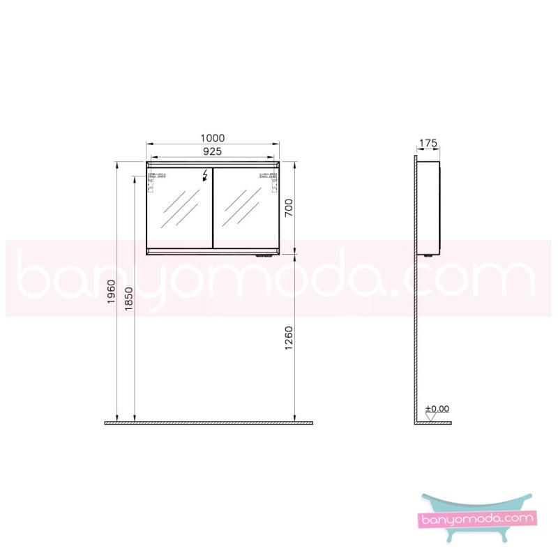 Vitra Options Lux Dolaplı Ayna, 100 cm Mat Pelesenk - 55043 asma doğal kaplama yavaş kapanır estetiğin en yalın ve çarpıcı hali her boyutta banyoya uygun mobilya en uygun fiyatlarla Banyomoda'dan online satın alabilirsiniz.