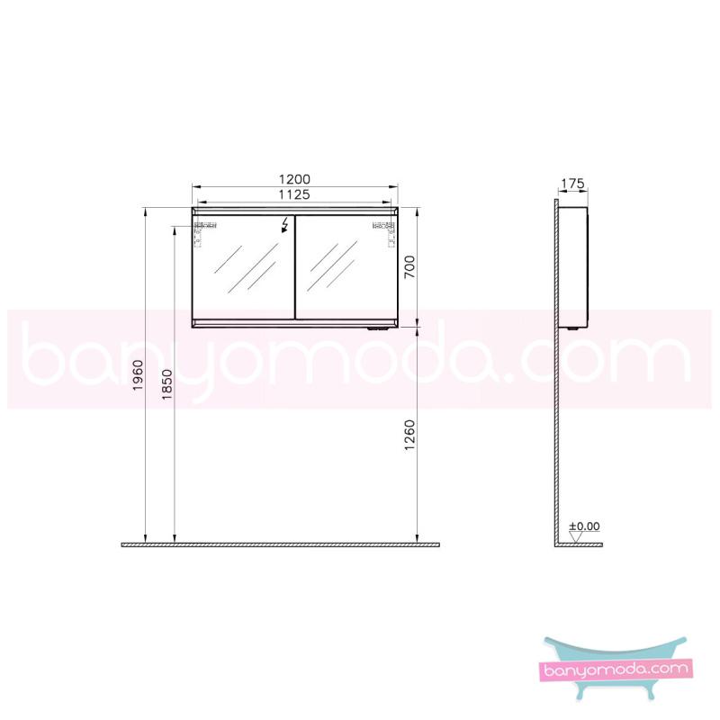 Vitra Options Lux Dolaplı Ayna, 120 cm Parlak Siyah - 55044 asma lake kaplama yavaş kapanır estetiğin en yalın ve çarpıcı hali her boyutta banyoya uygun mobilya en uygun fiyatlarla Banyomoda'dan online satın alabilirsiniz.