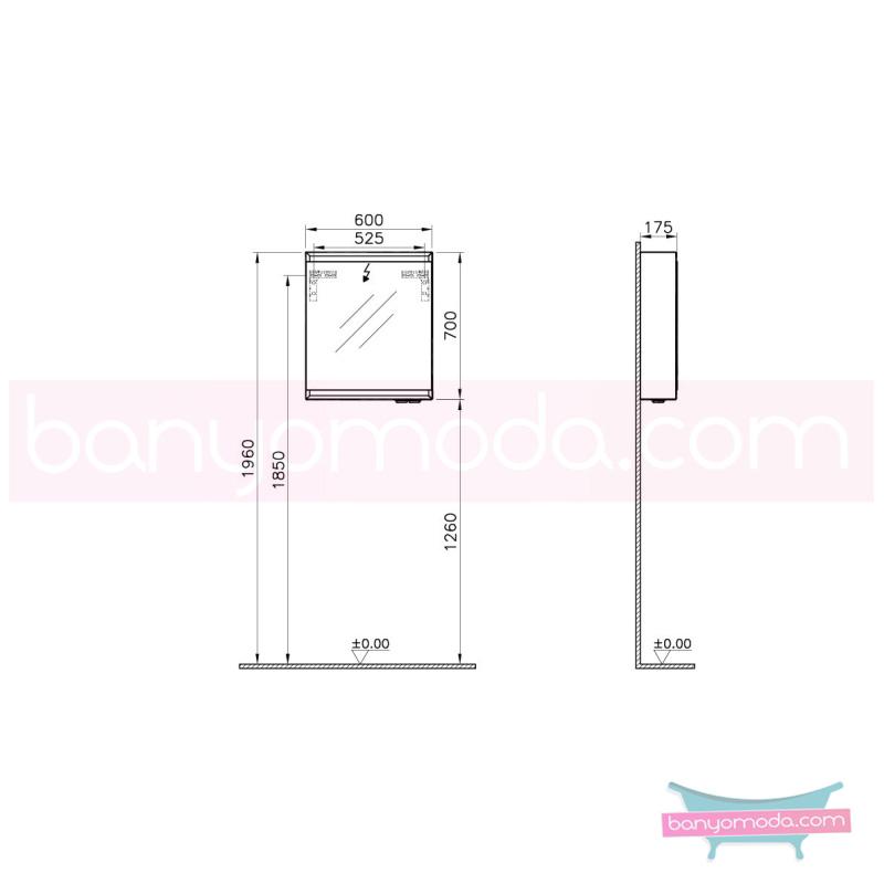 Vitra Options Lux Dolaplı Ayna, 60 cm (Sol) Parlak Siyah - 55038 asma lake kaplama yavaş kapanır estetiğin en yalın ve çarpıcı hali her boyutta banyoya uygun mobilya en uygun fiyatlarla Banyomoda'dan online satın alabilirsiniz.