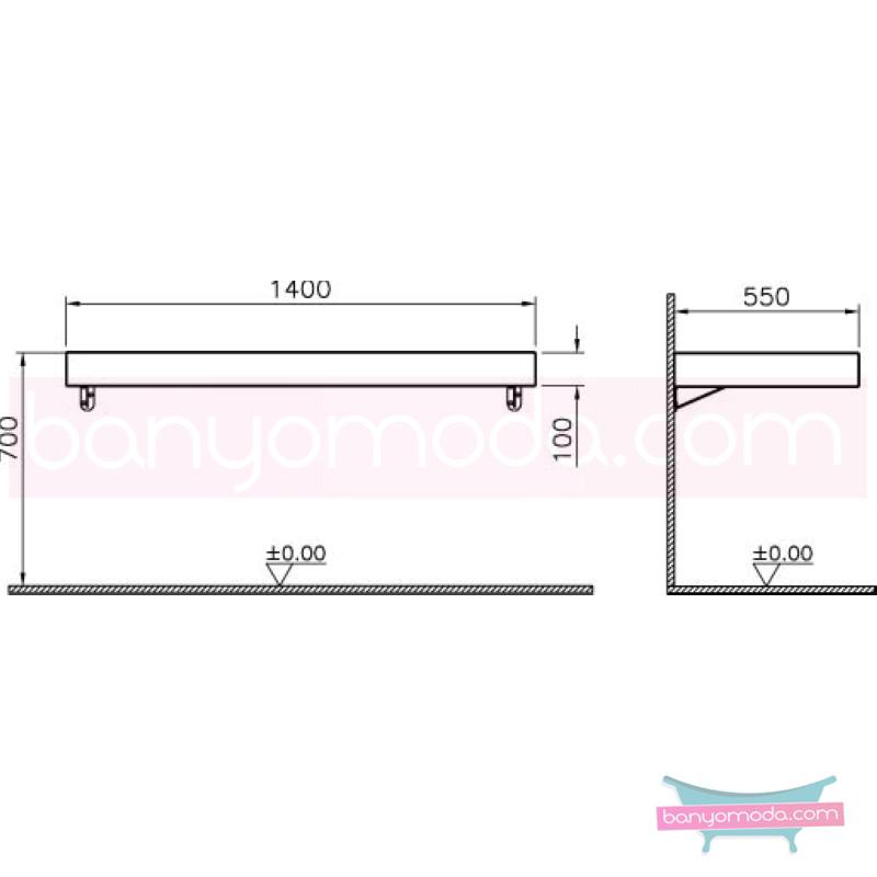 Vitra Options Lux Tezgah, 140 cm, Parlak Siyah - 53103 asma lake kaplama estetiğin en yalın ve çarpıcı hali her boyutta banyoya uygun mobilya en uygun fiyatlarla Banyomoda'dan online satın alabilirsiniz.