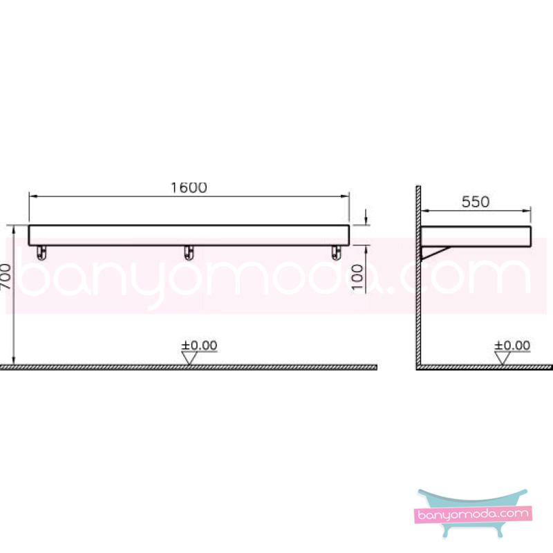 Vitra Options Lux Tezgah, 160 cm, Pelesenk - 52238 asma doğal kaplama estetiğin en yalın ve çarpıcı hali her boyutta banyoya uygun mobilya en uygun fiyatlarla Banyomoda'dan online satın alabilirsiniz.