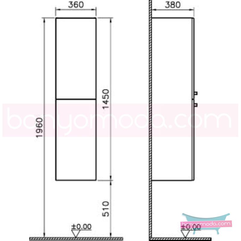 Vitra S50 Boy Dolabı (Sol), Altın Kiraz - 52484 asma termoform kaplama kulplu yavaş kapanır yüksek kalite uzun ömür ve estetik görünümün yanında uygun fiyatlı mobilya en uygun fiyatlarla Banyomoda'dan online satın alabilirsiniz.
