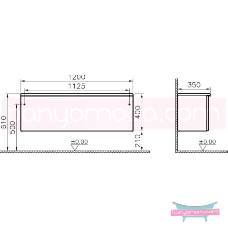 Vitra Shift Dar Alt Dolap (Derin), 120 cm, Dağ Dokusu - 52662 yerden termoform kaplama kulplu yavaş kapanır çekmeceli büyük banyo alanlarına ekleyeceğiniz ek ünitelerle banyonun fonksiyonelliği arttırın en uygun fiyatlarla Banyomoda'dan online satın alabilirsiniz.