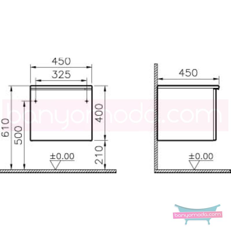 Vitra Shift Geniş Alt Dolap (Derin), 45 cm, Dağ Dokusu - 52666 asma termoform kaplama kulplu yavaş kapanır çekmeceli büyük banyo alanlarına ekleyeceğiniz ek ünitelerle banyonun fonksiyonelliği arttırın en uygun fiyatlarla Banyomoda'dan online satın alabilirsiniz.
