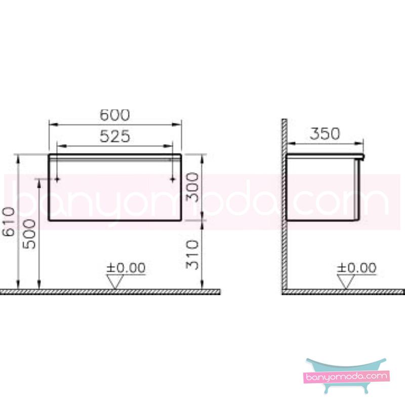 Vitra Shift Dar Alt Dolap (Sığ), 60 cm, Antrasit - 52607 yerden termoform kaplama kulplu yavaş kapanır çekmeceli büyük banyo alanlarına ekleyeceğiniz ek ünitelerle banyonun fonksiyonelliği arttırın en uygun fiyatlarla Banyomoda'dan online satın alabilirsiniz.