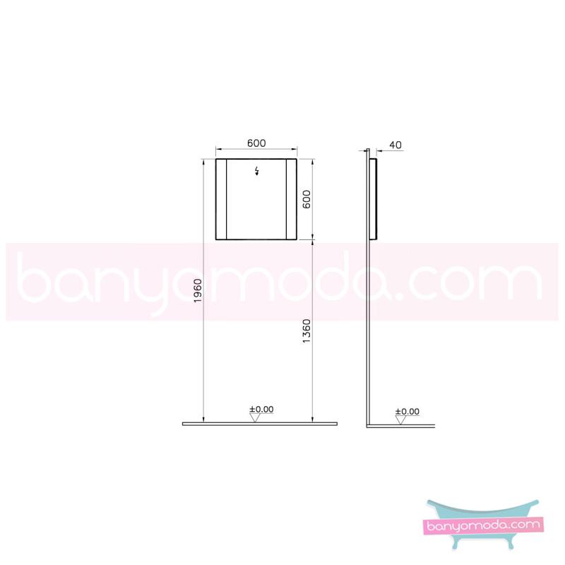 Vitra Shift Aydınlatmalı Ayna, 60 cm - 52499 asma büyük banyo alanlarına ekleyeceğiniz ek ünitelerle banyonun fonksiyonelliği arttırın en uygun fiyatlarla Banyomoda'dan online satın alabilirsiniz.