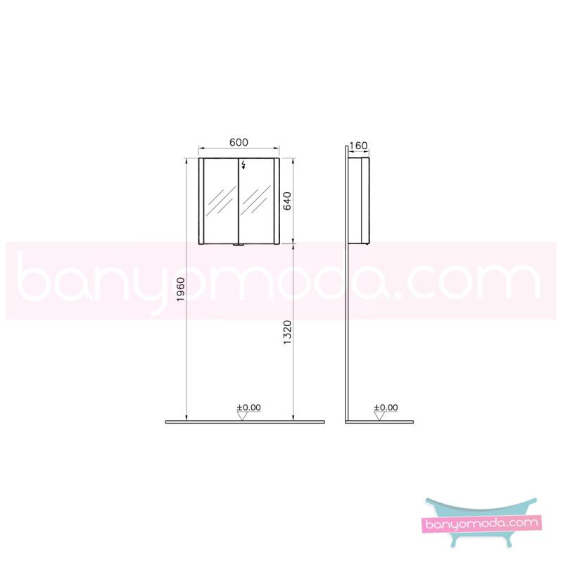 Vitra Shift Aydınlatmalı Dolaplı Ayna, 60 cm - 52498 asma yavaş kapanır büyük banyo alanlarına ekleyeceğiniz ek ünitelerle banyonun fonksiyonelliği arttırın en uygun fiyatlarla Banyomoda'dan online satın alabilirsiniz.