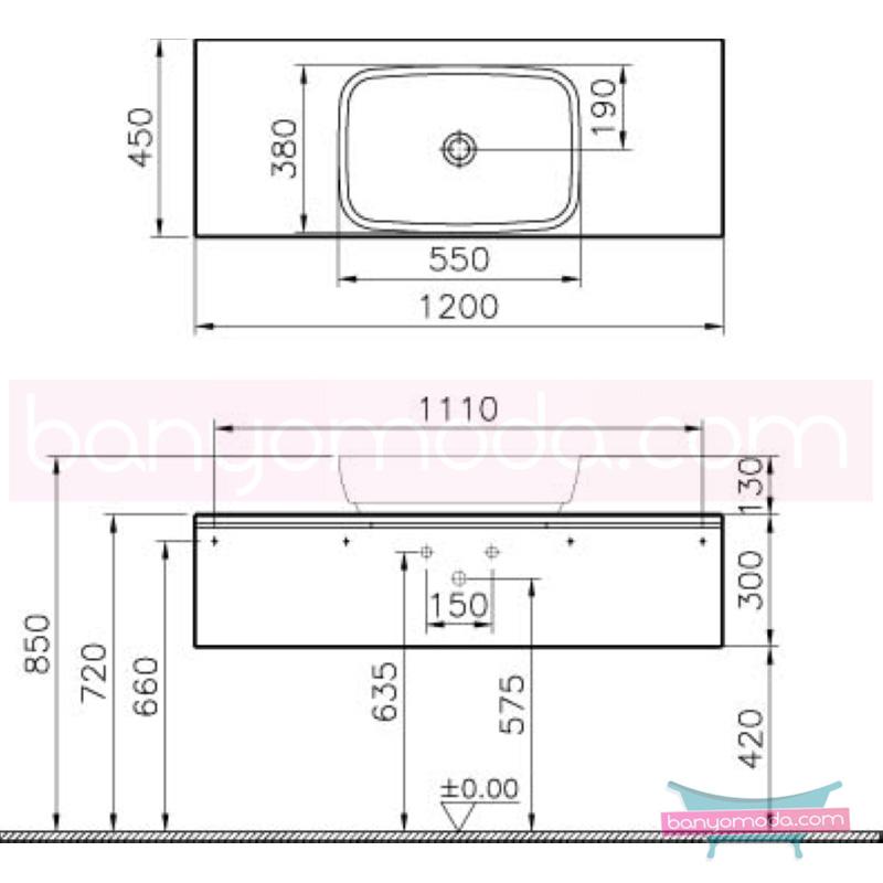 Vitra Shift Geniş Lavabo Dolabı (Sığ), 120 cm, Zebrano - 52586 asma termoform kaplama kulplu yavaş kapanır çekmeceli büyük banyo alanlarına ekleyeceğiniz ek ünitelerle banyonun fonksiyonelliği arttırın en uygun fiyatlarla Banyomoda'dan online satın alabilirsiniz.