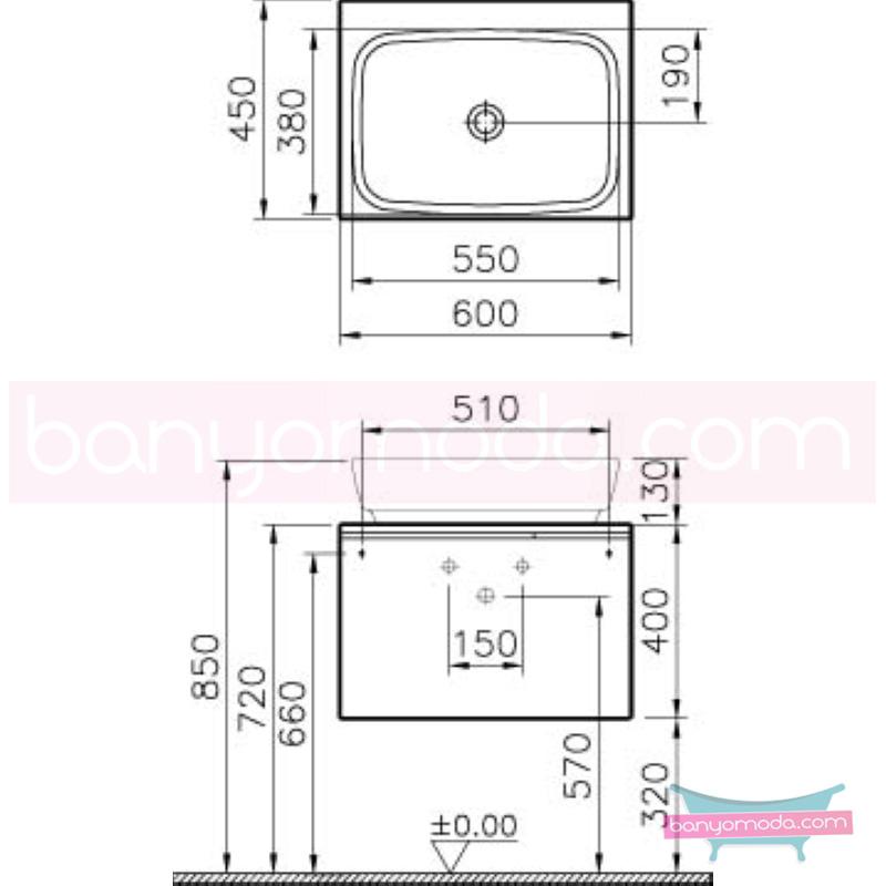 Vitra Shift Geniş Lavabo Dolabı (Derin), 60 cm, Dağ Dokusu - 52591 asma termoform kaplama kulplu yavaş kapanır çekmeceli büyük banyo alanlarına ekleyeceğiniz ek ünitelerle banyonun fonksiyonelliği arttırın en uygun fiyatlarla Banyomoda'dan online satın alabilirsiniz.