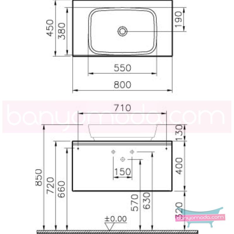 Vitra Shift Geniş Lavabo Dolabı (Derin), 80 cm, Zebrano - 52594 asma termoform kaplama kulplu yavaş kapanır çekmeceli büyük banyo alanlarına ekleyeceğiniz ek ünitelerle banyonun fonksiyonelliği arttırın en uygun fiyatlarla Banyomoda'dan online satın alabilirsiniz.